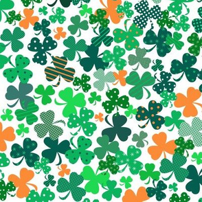 Funky Shamrocks Green And OrangeSmall
