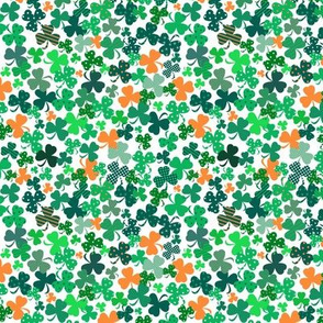 Funky Shamrocks Green And OrangeVerySmall