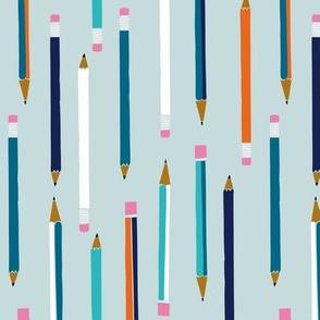 School Pencils blue