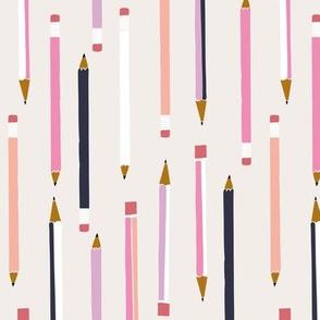 School pencils pink