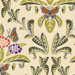 Monarchs and Milkweed Large