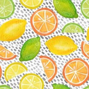 citrus burst on B&W dashes