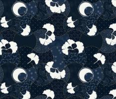 Midnight Ginkgo Patchwork