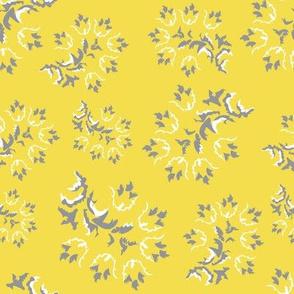 yellow Gray Flower 1