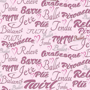 Ballet Words Pink