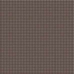 Dark Oak Brown Two-Tone Simple Plaid (Very Small)