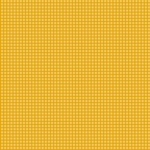 Goldenrod Yellow Two-Tone Simple Plaid (Very Small)