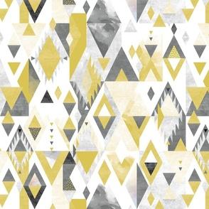 Desert Modernism yellow and grey
