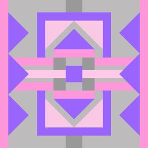 1YD Storm the Castle :  Pink Purple & Grey