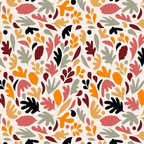 Retro Fall in Love - Matisse Foliage - S