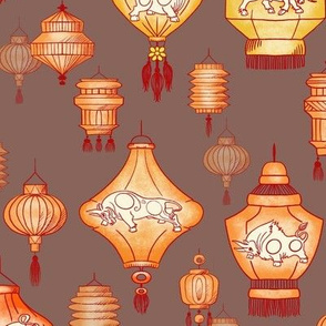 Year of the Ox Chinese Lanterns