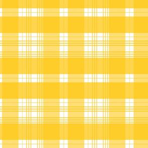 1D yellow plaid modern fresh lemon playful cottagestyle TerriConradDesigns