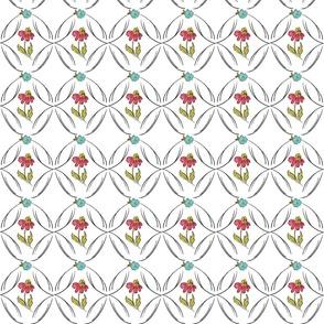 1F doodle flower playful youthful colorful cottage girly boho chic TerriConradDesigns
