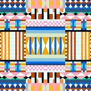 Shapes and Stripes - Cool Colors