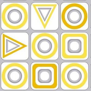 Geo Abstract yellow & gray