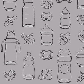 Bottles and Pacifier Grey