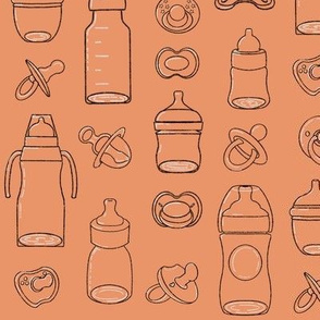 Bottles and Pacifiers Orange