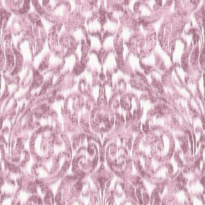 small ikat acanthus scroll soft in pale pink large
