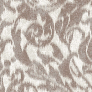 large ikat acanthus scroll in mauve large