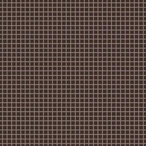 Dark Oak Brown Two-Tone  Simple Plaid (Small)