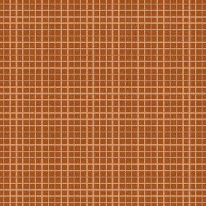 Copper Two-Tone Simple Plaid  (Small)