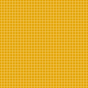 Goldenrod Yellow Two-Tone  Simple Plaid  (Small)