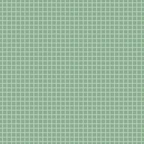 Jade Green Two-Tone Simple Plaid (Small)
