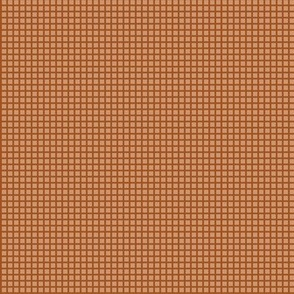 Copper Two-Tone Simple Plaid (Very Small)