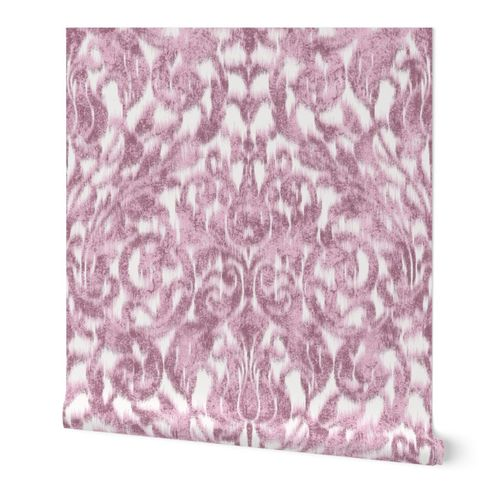 ikat acanthus scroll soft in pale pink large
