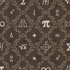 Math Damask (Brown)