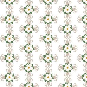 Southern Heritage - Magnolia on Damask Cross