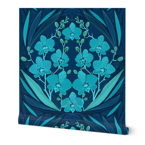 Midnight Mood Orchid DAMASK