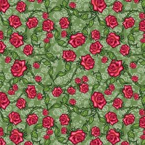 Voodoo Tea Rose Damask