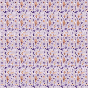 Extra Small - Mystic Eye Hand Purple Stars Moon