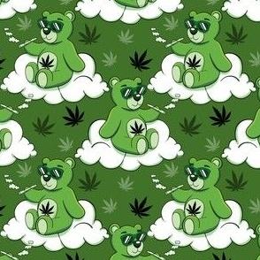 Cute cannabis bear small scale