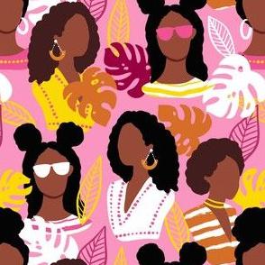African American black women pink