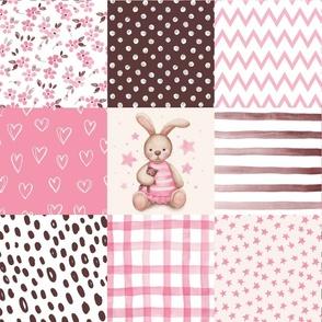 bunny cheater quilt nursery fabric