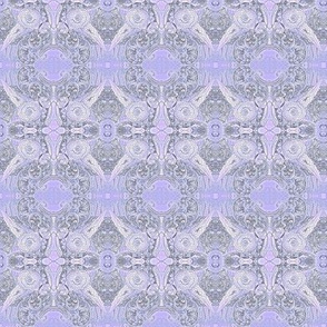 MRN3 -  Small  - Morning Reverie Abstract with Birds, Nests and Coffee Cups in Lavender