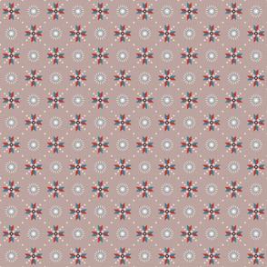 retro stars foulard on reddish gray small