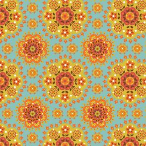 retro.flowers.orange.by.bundgaard