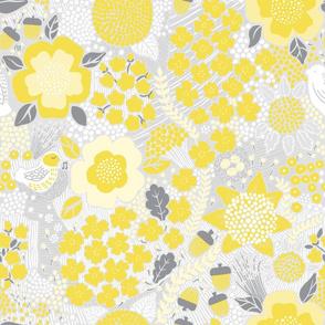 Life Wins Yellow Grey flowers