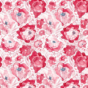 Rosy Floral Original Bright Medium Scale