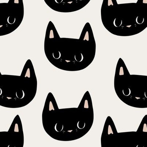 little black cat faces