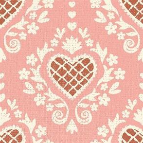 Valentine Damask Small