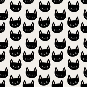 small scale // little black cat faces