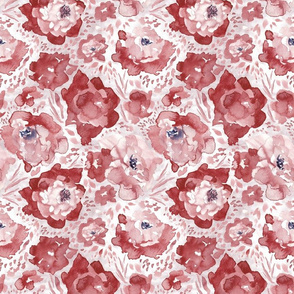 Rosy Floral Brick Medium Scale