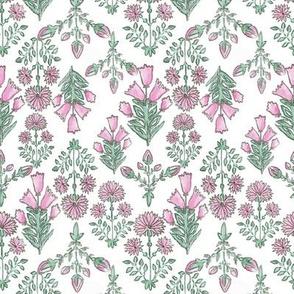 Pink & Green Spring Floral Medium