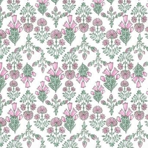Pink & Green Spring Floral Small