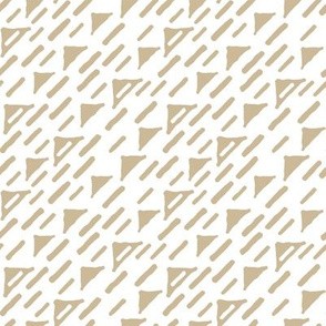 beige and white pattern of jagged triangles and broken lines. Hand drawn effect