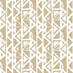 Seamless repeat pattern of empty triangles and filled with color in a row